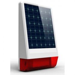 Sirena wireless da esterno con pannello solare e batteria tampone per centrale Powertouch