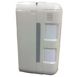 Sensore per esterno pet immune doppio fascio a tendina con batteria tampone per centrale Powertouch