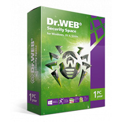 DR WEB SECURITY SPACE 1 PC 12 MESI