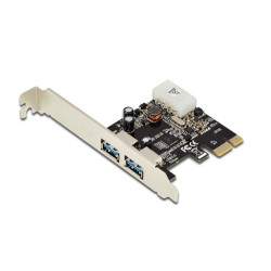 DIGITUS SCHEDA PCI-E 2 PORTE USB3.0 CON STAFFA PER LOW PROFILE